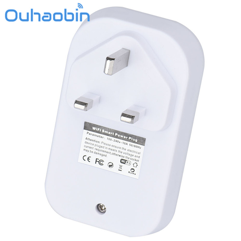Ouhaobin Wireless WiFi Smart Cellphone APP Remote Control Power Plug Socket Switch Outlet Gift Oct 18 Dropship