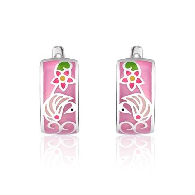 Pink Enamel Jewelry Set...
