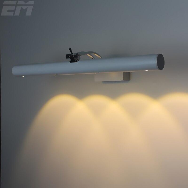 ФОТО Bathroom Led Mirror light 420*60*185mm Adjustable Head 4 Leds 12W Aluminum Crystal Convex Lens Spot Lighting LED Wall Sconce