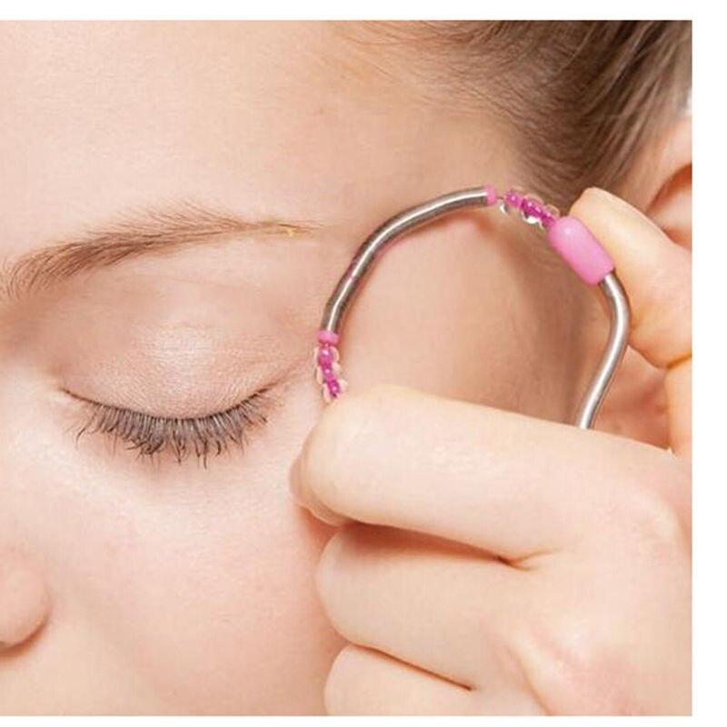 1 Pcs Epilator Tool Plastic Depiladora Handheld Facial Hair Remover Removal Threading Beauty