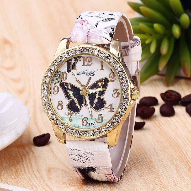 Fashion Hot Sale Butterfly Women Watch Diamond Big Dial PU Leather Quartz Wrist Watch Cheap Clock Free Drop Shipping Reloj Mujer mtsooning timing cover and 1 derby cover for harley davidson xlh 883 sportster 1986 2004 xl 883 sportster custom 1998 2008 883l
