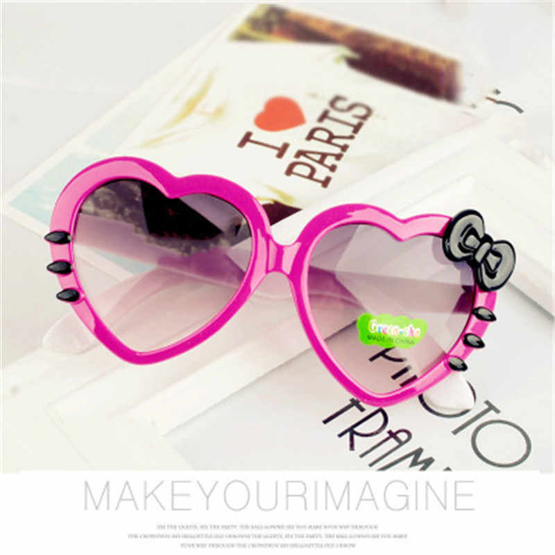 04bc2be1aaf Kids Sunglasses Children Fashion Heart Shaped Cute UV400 Designer Frame  Eyewear Baby Girls Sun Glasses lentes