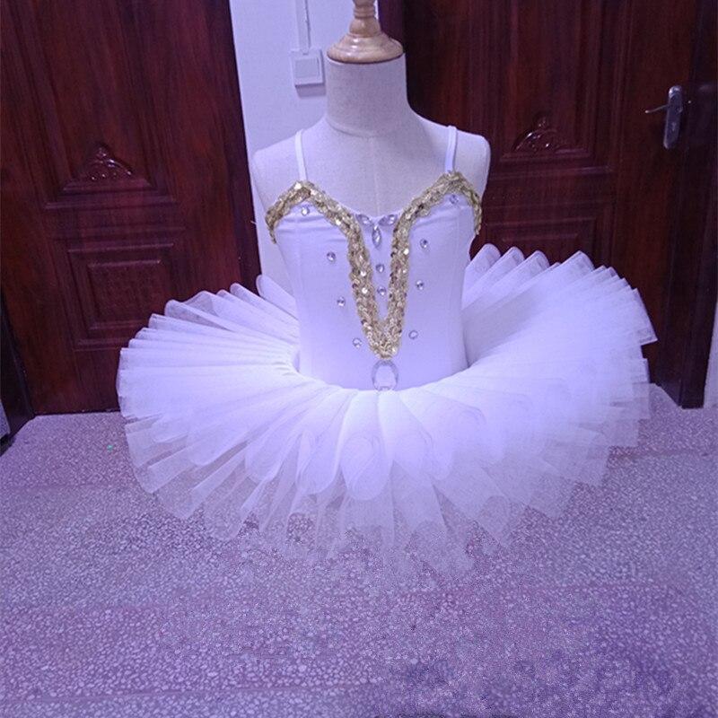 White swan professional ballet tutu kids child ballet costumes dance wear for girls pancake tutu