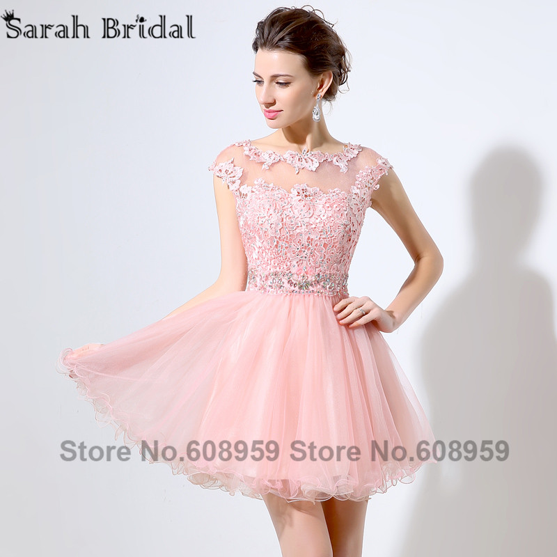 Popular Pink Short Homecoming Dresses-Buy Cheap Pink Short ...