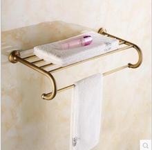 Европейский ретро роскошная ванная комната вешалка для полотенец 100% медь аксессуары для ванной комнаты Английский ткань стойки в ванной металлические подвесные