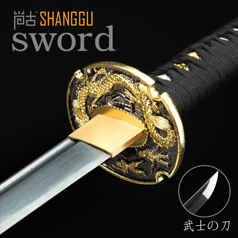 Damascus Golden Cutter Imitation Samurai Sword Ninja Sword Really KatanaDamascus Golden Cutter Imitation Samurai Sword Ninja Sword Really Katana