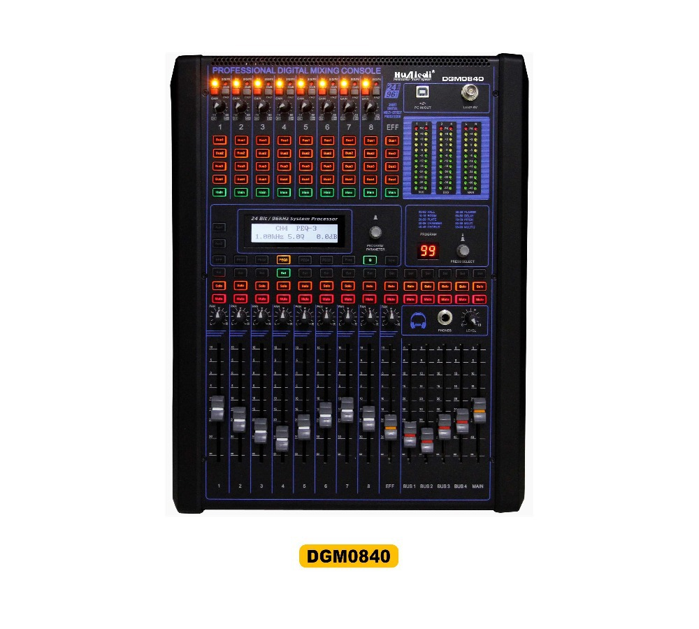 buy 8 channel digital mixers professional digital mixing console dj console. Black Bedroom Furniture Sets. Home Design Ideas