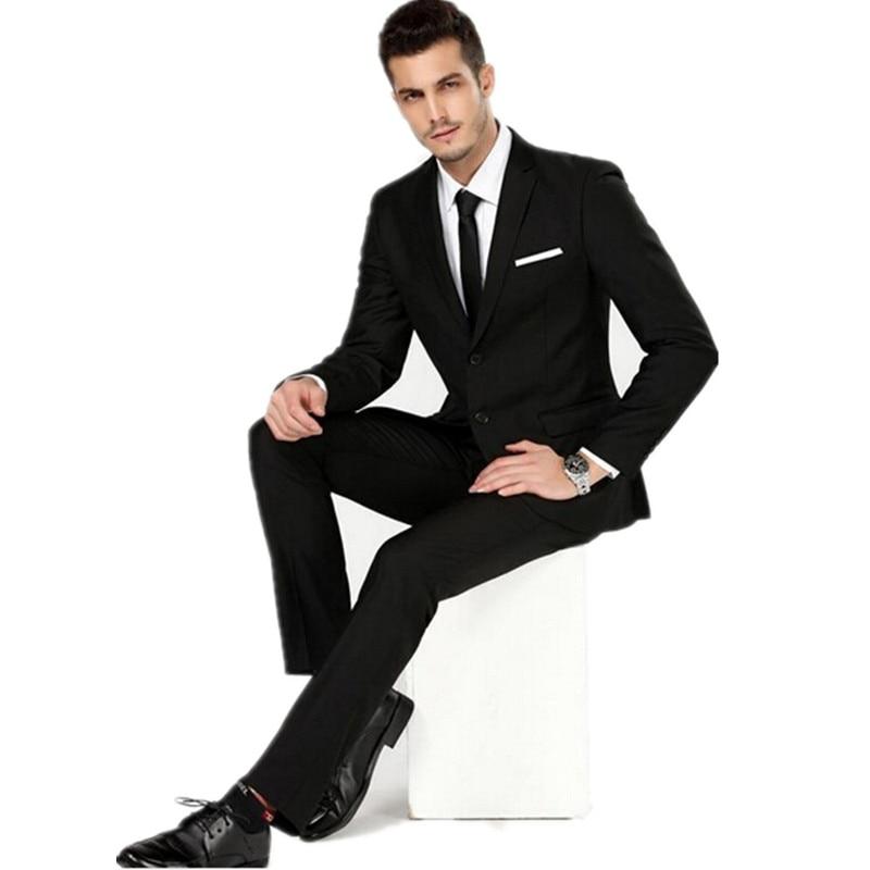 Aliexpress.com : Buy Men's black formal suit men's wedding the ...