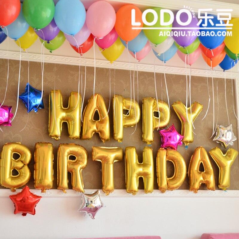 amazing tienda online articulos de fiesta feliz cumpleaos decoracion fiesta globos banner para nio nia nios plata oro color carta de papel de aluminio