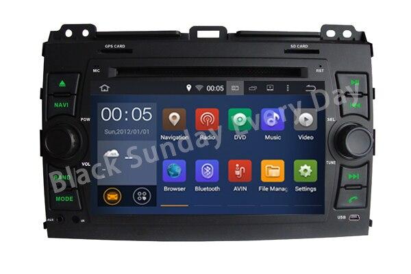 Quad Core Android 5 1 Car DVD player FOR TOYOTA PRADO 120 2002 2009 Quad Cortex