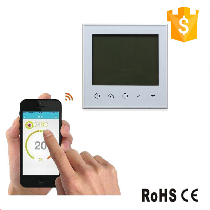 Programmable Thermostat Heating Temp WiFi LCD Touch Screen Temperature Control Underfloor 16A 230V valve radiator linkage controller weekly programmable room thermostat wifi app for gas boiler underfloor heating