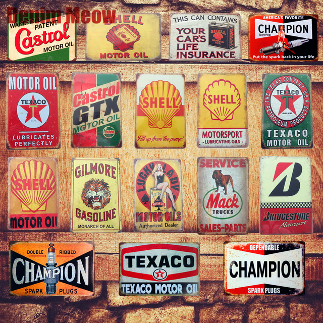 Motor Oil Plaque Vintage Metal Tin Signs Home Bar Pub Garage Gas Station Decorative Iron Plates  sc 1 st  AliExpress.com & Motor Oil Plaque Vintage Metal Tin Signs Home Bar Pub Garage Gas ...
