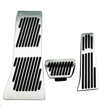 Para BMW Série X5 X6 E70 E71 E72 F15 AT Acelerador Pastilhas de freio de Pé Resto Pedal, Carro Styling Acessórios Reequipamento Gás Adesivo styling