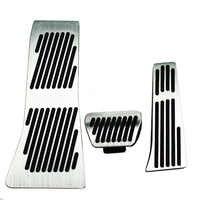 Para bmw x5 série x6 e70 e71 e72 f15 no acelerador freio pé resto almofadas pedal, acessórios do carro estilo reequipamento a gás adesivo estilo