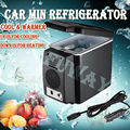 DHL Free Shipping 2016 Portable 12V 6L Auto Car Mini Fridge Travel Refrigerator Quality ABS Multi-Function Cooler Freezer Warmer