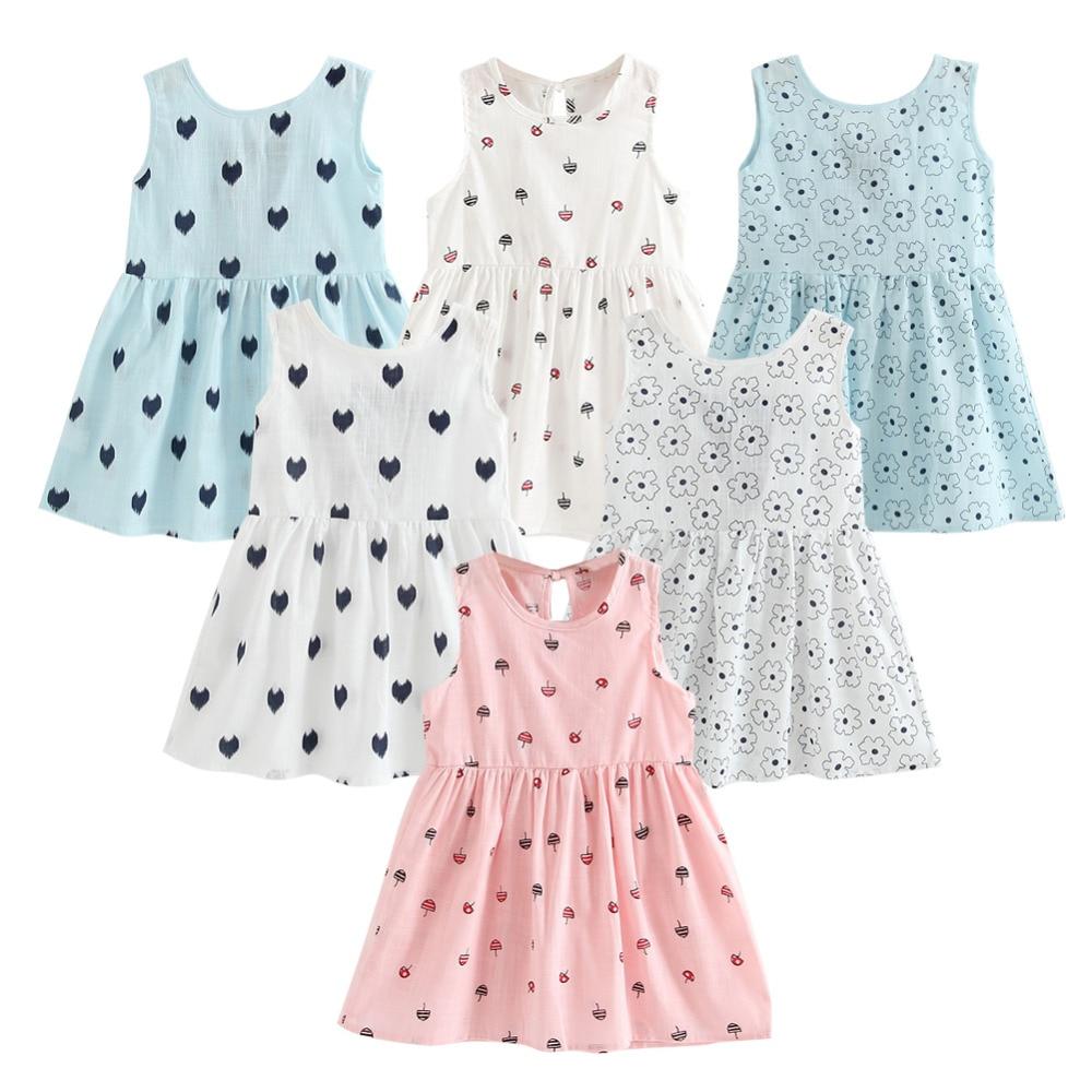 Wholesale Baby Dress Girl Retro Cotton Blend Blouse Cotton Girl Sleeveless Backless Crocheted Pattern Princess Party Dress day dress