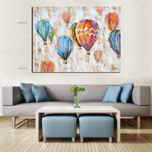 Pop Artwork handmade High Quality Balloon picture Hand-painted Canvas Hot Air Oil Painting Modern