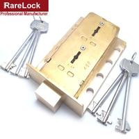 Rarelock BMMS409 Brass Valt Lock for Safe Box Cabinet Door Use Both 2group Keys to Open High Security Hardware