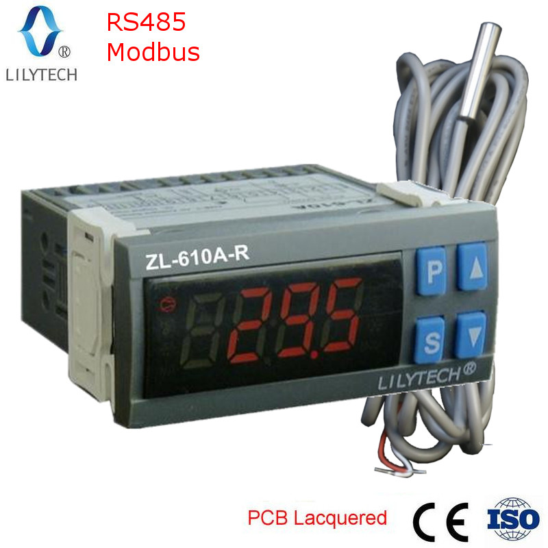 ZL-610A-R, RS485 Temperature Controller,  Digital Cold Storage Temperature Controller, Thermostat With Modbus, Lilytech