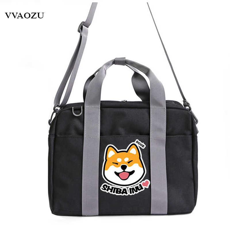 Anime Fairy Tail Natsume Yuujinchou Monokuma Dog Shiba Inu Handbags Oxford Women Men Student Shoulder Messenger Crossbody Bag