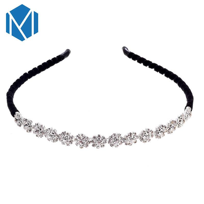 ... Fashion Women Crystal Headband Shiny Metal Flower Bow Hairband Girl Hair  Band Jewelry Female Rhinestone Pearl ... 6c887d601c53