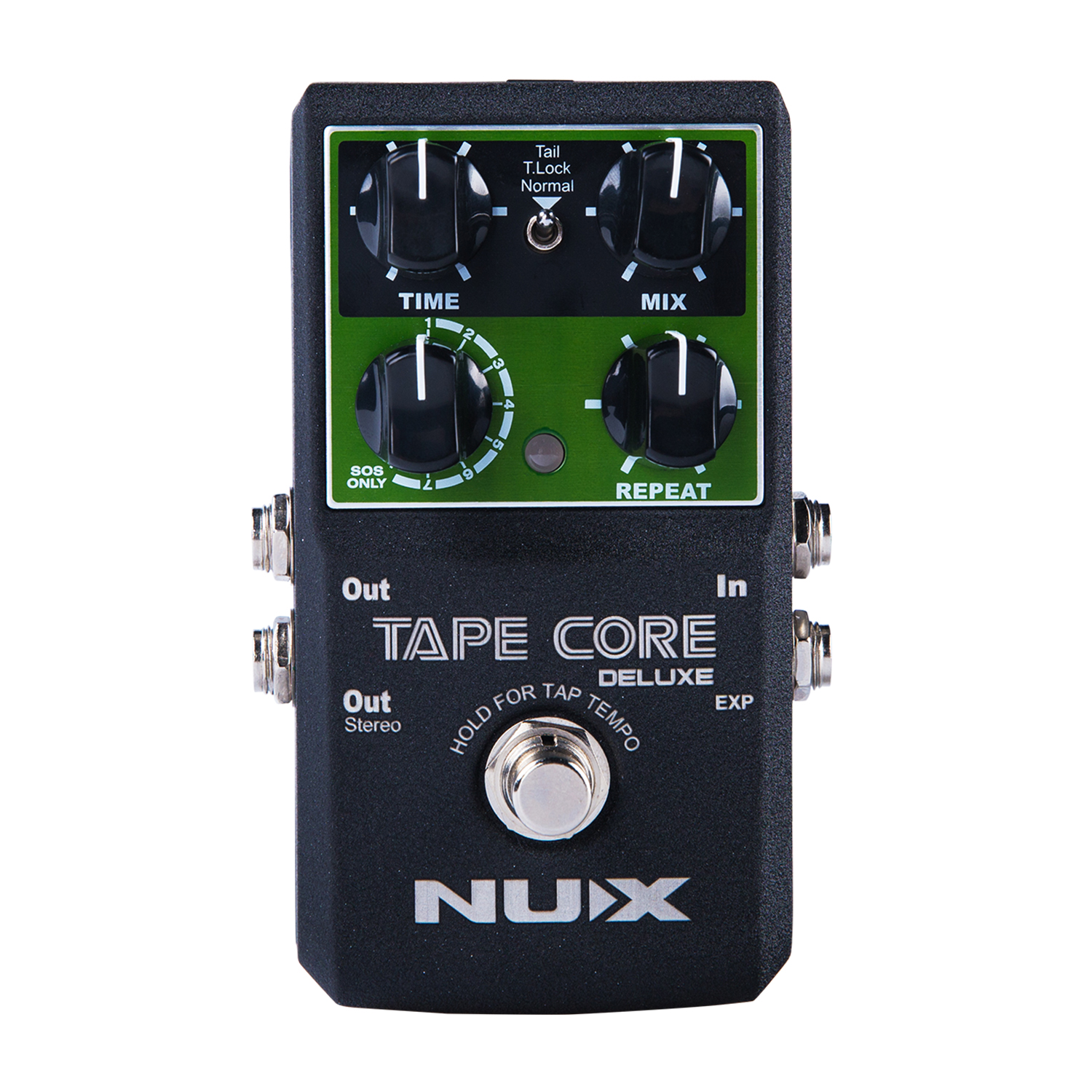 NUX Tape Core Deluxe Tape Echo Guitar Effect Pedal 3 Repro Head 7 Delay Sound Compact Stomp Box  Natural Sound Decay Modulation nux time core deluxe delay pedal different types of delays to the upmost ambience