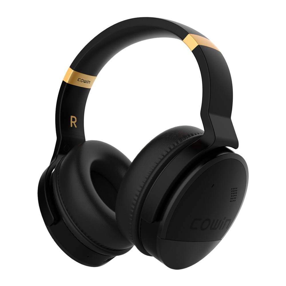 COWIN E8 actif suppression de bruit casque Bluetooth casque Microphone Hi-Fi basse casque sans fil sur l'oreille ordinateur