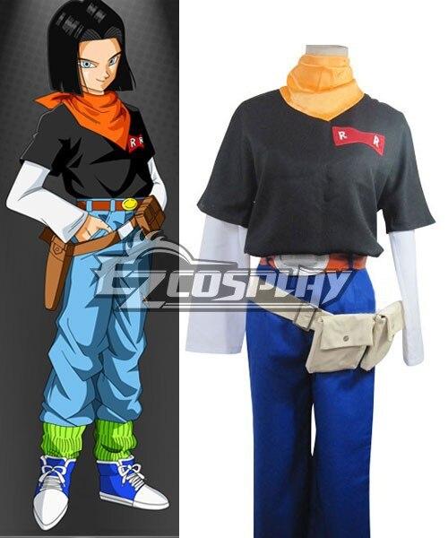 Dragon Ball Android uniforme tissu rouleau laine tissu Costume E001