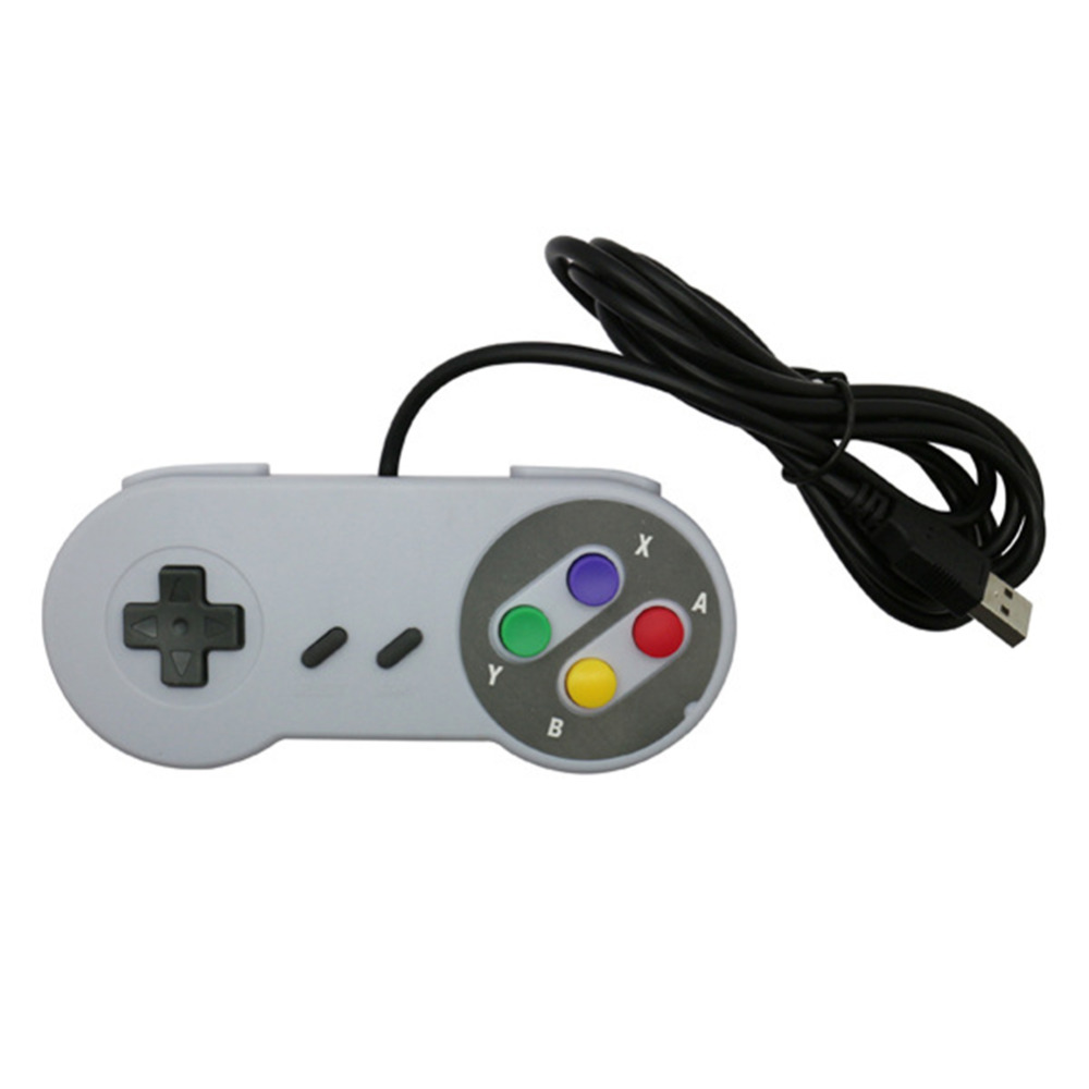 2PCS Game Console Remote Control Handle - Plug and Play - USB Handle, SNES Handle