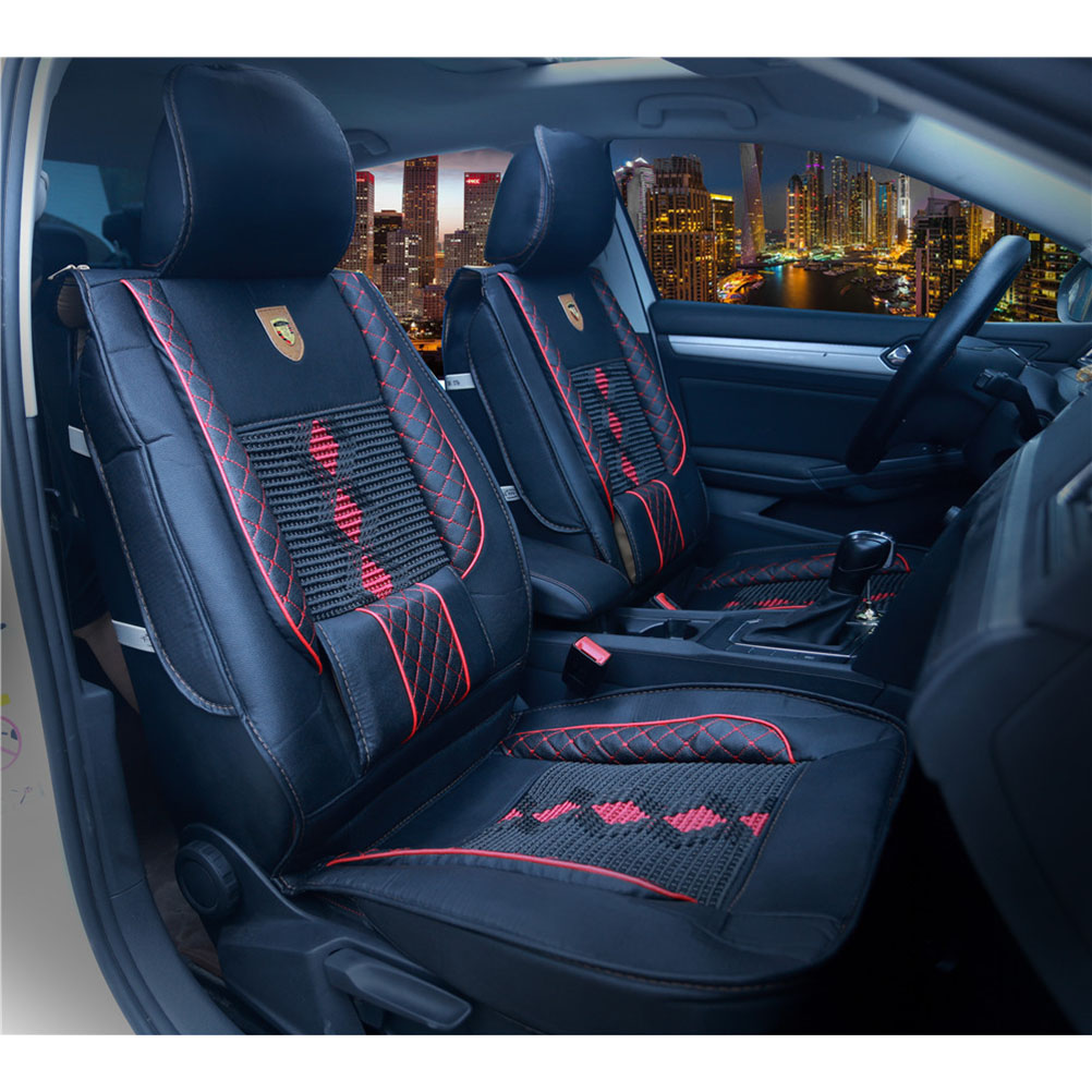 1 Piece of High Grade Leather Ice Silk Car Front Seat Cover Universal Fit Breathable Car Seat Cover A20(China)