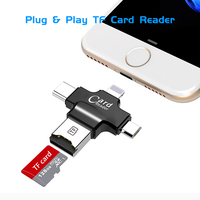 card reader All In 1 TF MicroSD Card Reader Multi-system Compatible Plug & Play Portable Adapter Card Reader For Android iOS Type-C Device (2)