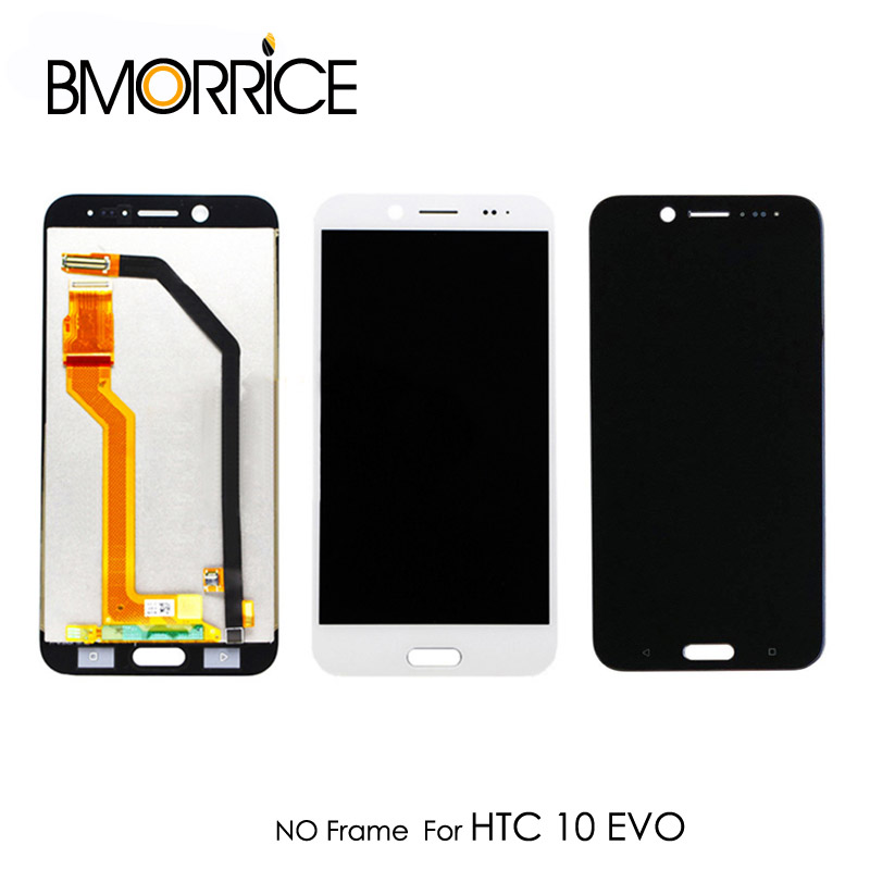 Original LCD Display For <font><b>HTC</b></font> <font><b>10</b></font> <font><b>EVO</b></font> Bolt M10H Touch <font><b>Screen</b></font> Glass Digitizer No Frame Assembly Replacement Parts 5.5'' White Black image