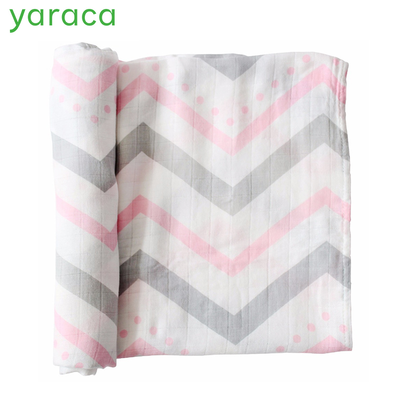 Muslin Baby Blanket For Newborns Soft Durable Cotton Bamboo Baby Swaddles Wraps Bath Towel For Infant 120x120cm