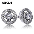 Authentic 925 Sterling Silver Vintage Allure With Clear CZ Earrings Compatible With Pandora Earrings Jewelry pendient