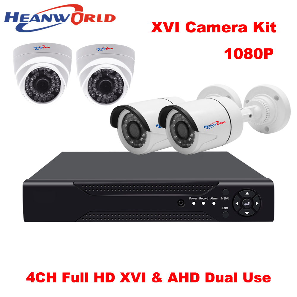 4CH DVR Kit 1080 P XVR CCTV-System 2 mp 4 Kanal AHD Home Security System Dome Überwachungskamera indoor Zylinderkamera outdoor