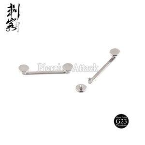 Image 1 - G23 טיטניום פנימי הברגה שטוח Surfacel ברבל משטח פירסינג תכשיטי 1.6*18*5mm הרבה 5pcs גוף תכשיטים