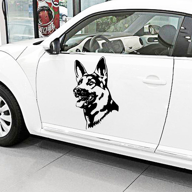 Car Door German Shepherd Auto Sticker Hood Tailgate Side Window Decal Car Sticker Decoration Sweet Auto Sticker Decal