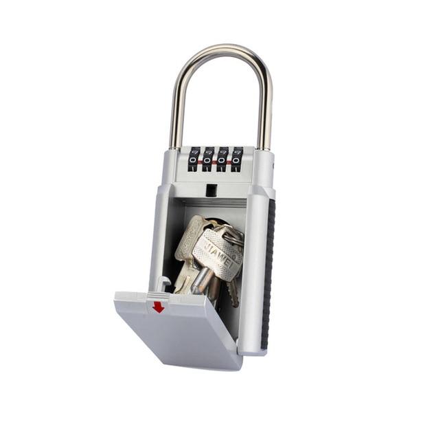 1 Pièces Code Cadenas Extérieur Coffre Fort Clé Boîte De Rangement Secret  Sécurité Serrure Avec