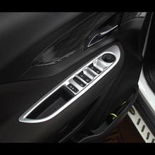 Matte Interior Armrest Door Window Button Switch Panel Cover Shell for Buick Encore Opel Mokka 2012  2016 Trim Garnish 4pcs