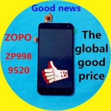 В наличии! ЖК-дисплей Дисплей + дигитайзер Сенсорный экран Стекло сборки для ZOPO 9520 ZP998 сотовый телефон 1920*1080 5.5 «черный Цвет