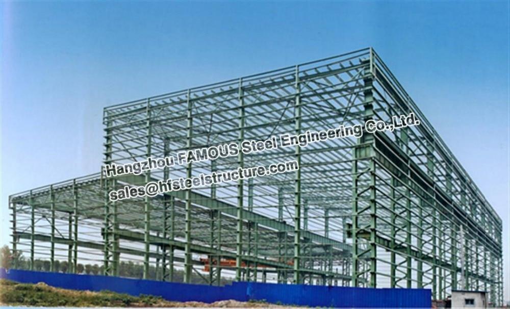 Wide Span Industrial Steel Buildings Light Steel Structure Warehouse