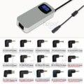 15 Puntas Desmontables LCD 90 W Delgado Adaptador de CA Portátil Universal Cargador Portátil fuente de Alimentación Con 5 V 2A USB puerto