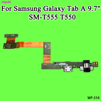 cltgxdd For Samsung Galaxy Tab A 9.7 T555 SM-T555 T550 USB Charge Dock Jack Connector Charging Port Flex Cable image
