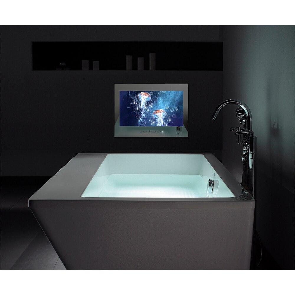 "HTB1VJPraPnD8KJjSspbq6zbEXXa3 Souria 15.6"" Black Bathroom Waterproof LED Android 9.0 Smart Wi-Fi Shower Hidden TV Monitor Hotel Television"