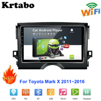 Car radio Android multimedia player For Toyota Mark X 2011~2016 Car touch screen GPS Navigation Bluetooth WIFI Video player