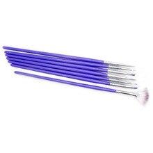 New 7pcs/set Purple Nail Art Brushes Set Dotting Painting Drawing Pen nail tool
