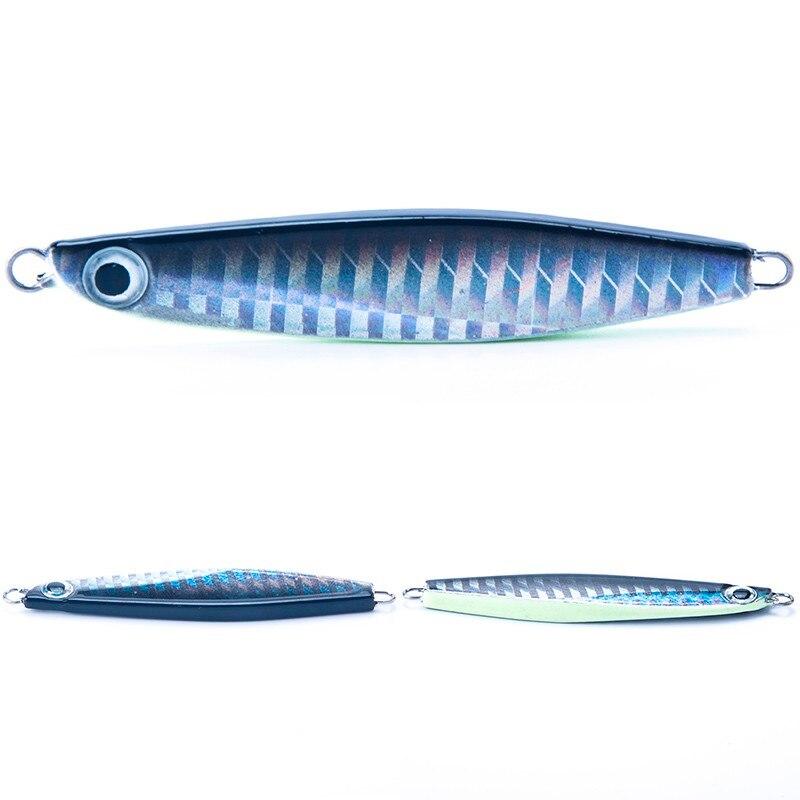 Sealurer Brand Jig 22g 70mm Knife Jigging Seawater Spoon VIB Artificial Hard Bait Boat Fishing Jigs Lures