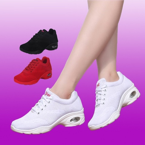 Sneakers Airbag Bottom Square Dance Shoes Sports Adult Fitness Shoes Modern Dance Fabric Women Shoes Dance Sports Ladies Shoes Islamabad