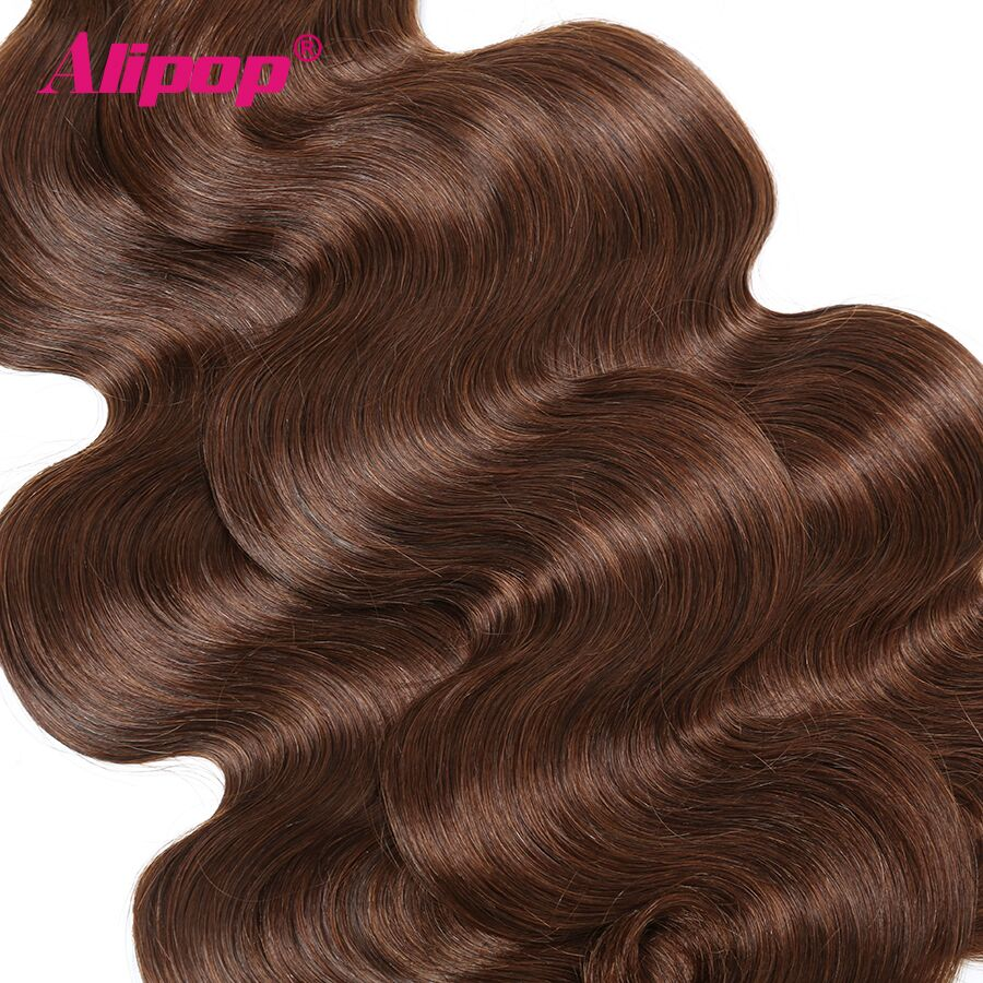 #4 Colored Body Wave Bundles Brazilian Hair 3 Bundles Light Brown Human Hair Weave Bundles Deals Hair Vendors Non Remy ALIPOP (1)