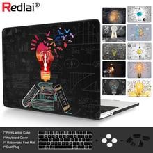 Redlai Blackboard Innovative Lamp Laptop Case For Apple Macbook Pro Retina 12 13.3 15 New Air 13 A1932 Touch bar